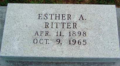 LEWELLEN RITTER, ESTHER A - Madison County, Iowa | ESTHER A LEWELLEN RITTER