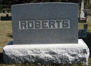 ROBERTS, FAMILY STONE - Madison County, Iowa | FAMILY STONE ROBERTS