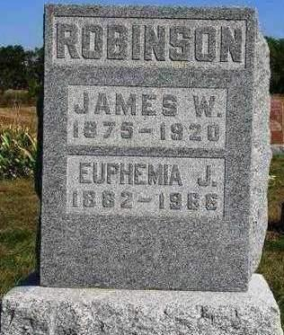 ROBINSON, EUPHEMIA JANE - Madison County, Iowa | EUPHEMIA JANE ROBINSON