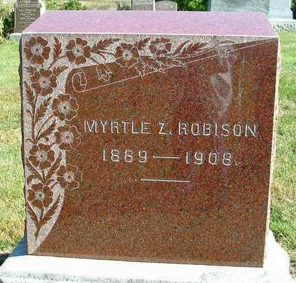 HOGUE ROBISON, MYRTLE Z. - Madison County, Iowa | MYRTLE Z. HOGUE ROBISON