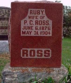 ROSS, RUBY C. - Madison County, Iowa | RUBY C. ROSS