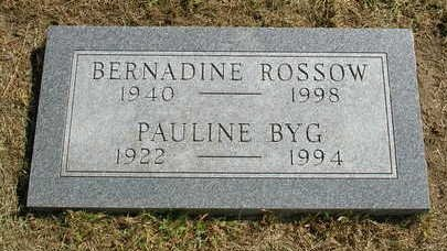 ROSSOW, BERNADINE - Madison County, Iowa | BERNADINE ROSSOW