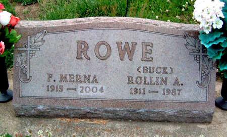 ROWE, ROLLIN ANDREW (BUCK) - Madison County, Iowa | ROLLIN ANDREW (BUCK) ROWE