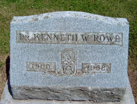 ROWE, KENNETH W.  (DR.) - Madison County, Iowa | KENNETH W.  (DR.) ROWE