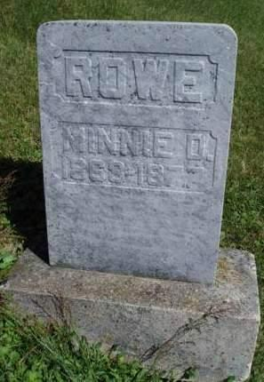 ROWE, MINNIE D. - Madison County, Iowa | MINNIE D. ROWE