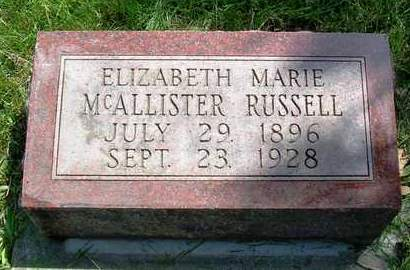 MCALLISTER RUSSELL, ELIZABETH MARIE - Madison County, Iowa | ELIZABETH MARIE MCALLISTER RUSSELL