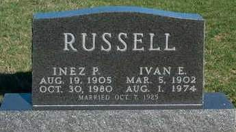 RUSSELL, INEZ P. - Madison County, Iowa | INEZ P. RUSSELL