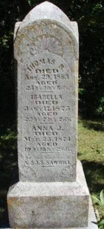 SAWHILL, ANNA JANE - Madison County, Iowa | ANNA JANE SAWHILL