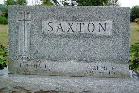 SAXTON, BERTHA FERN - Madison County, Iowa | BERTHA FERN SAXTON