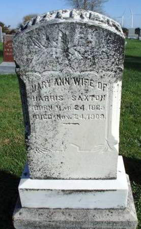 SAXTON, MARY ANN - Madison County, Iowa | MARY ANN SAXTON