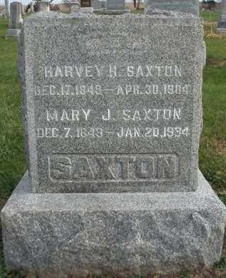 SAXTON, HARVEY HENRY - Madison County, Iowa | HARVEY HENRY SAXTON