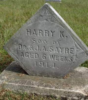 SAYRE, HARRY KELSO - Madison County, Iowa | HARRY KELSO SAYRE