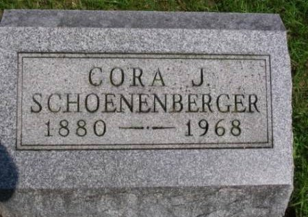 SCHOENENBERGER, CORA JANE - Madison County, Iowa | CORA JANE SCHOENENBERGER