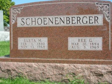 SCHOENENBERGER, ELETA MARY - Madison County, Iowa | ELETA MARY SCHOENENBERGER