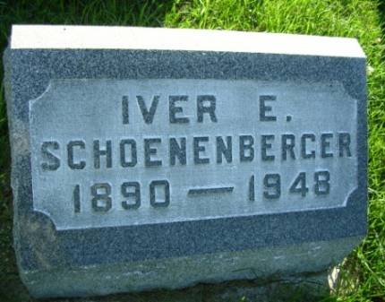 SCHOENENBERGER, IVER EARL - Madison County, Iowa | IVER EARL SCHOENENBERGER