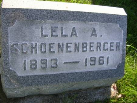 SCHOENENBERGER, LELA ALICE - Madison County, Iowa | LELA ALICE SCHOENENBERGER