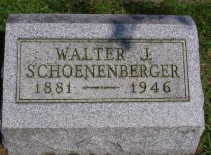 SCHOENENBERGER, WALTER JAMES - Madison County, Iowa | WALTER JAMES SCHOENENBERGER