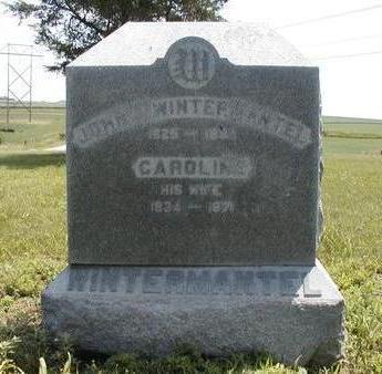 SCHOEPFLIN WINTEMANTEL, CAROLINE - Madison County, Iowa   CAROLINE SCHOEPFLIN WINTEMANTEL
