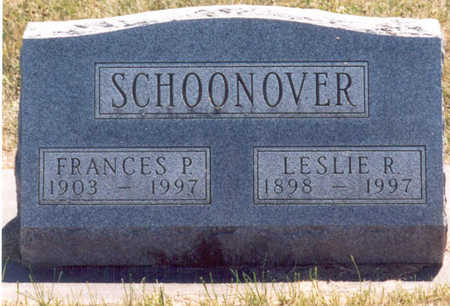 KIRK SCHOONOVER, FRANCES PAULINE - Madison County, Iowa | FRANCES PAULINE KIRK SCHOONOVER