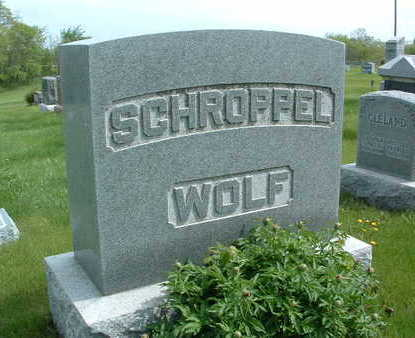 SCHROPPEL-WOLF, FAMILY HEADSTONE - Madison County, Iowa | FAMILY HEADSTONE SCHROPPEL-WOLF