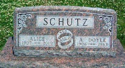 SCHUTZ, ALICE MAE - Madison County, Iowa | ALICE MAE SCHUTZ