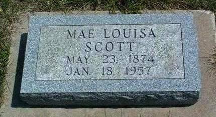 SCOTT, MAE LOUISA - Madison County, Iowa   MAE LOUISA SCOTT