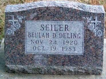 SEILER, BEULAH DESSAMOND - Madison County, Iowa | BEULAH DESSAMOND SEILER