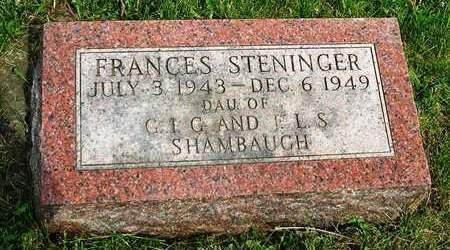SHAMBAUGH, FRANCES STENINGER - Madison County, Iowa | FRANCES STENINGER SHAMBAUGH