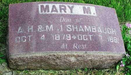 SHAMBAUGH, MARY M. - Madison County, Iowa | MARY M. SHAMBAUGH
