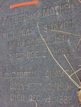 SHAVER, ELIZABETH - Madison County, Iowa | ELIZABETH SHAVER