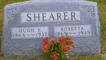 CLEMENT SHEARER, ROSETTA MARY - Madison County, Iowa | ROSETTA MARY CLEMENT SHEARER