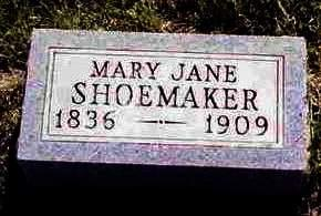 SHOEMAKER, MARY JANE - Madison County, Iowa | MARY JANE SHOEMAKER