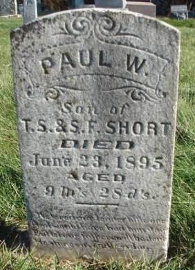 SHORT, PAUL W. - Madison County, Iowa | PAUL W. SHORT
