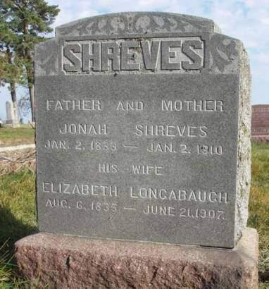 LONGBAUGH SHREVES, ELIZABETH - Madison County, Iowa | ELIZABETH LONGBAUGH SHREVES