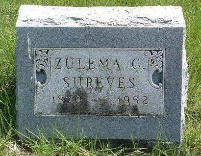 SHREVES, ZULEMA C. - Madison County, Iowa   ZULEMA C. SHREVES
