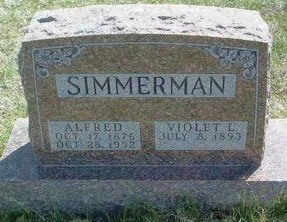 SIMMERMAN, ALFRED W. - Madison County, Iowa | ALFRED W. SIMMERMAN