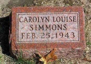 SIMMONS, CAROLYN LOUISE - Madison County, Iowa | CAROLYN LOUISE SIMMONS