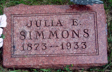 TURNER SIMMONS, JULIA ETTA - Madison County, Iowa | JULIA ETTA TURNER SIMMONS