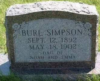 SIMPSON, BURL - Madison County, Iowa | BURL SIMPSON