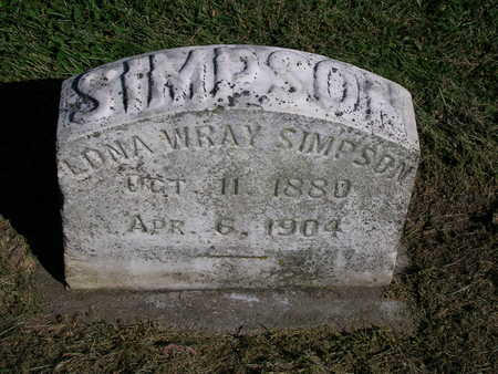 SIMPSON, EDNA MARY - Madison County, Iowa | EDNA MARY SIMPSON