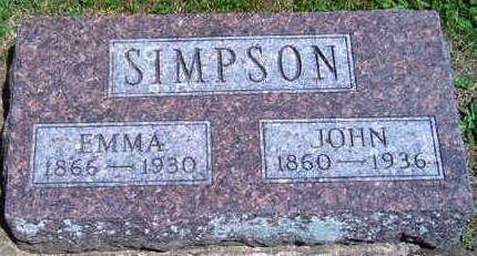GILBERT SIMPSON, MARTHA EMMA - Madison County, Iowa | MARTHA EMMA GILBERT SIMPSON