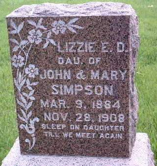 SIMPSON DAVIS, LIZZIE E. D. - Madison County, Iowa | LIZZIE E. D. SIMPSON DAVIS