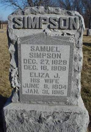 DUNAWAY  SIMPSON, ELIZA JANE - Madison County, Iowa | ELIZA JANE DUNAWAY  SIMPSON