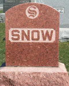 SNOW, FAMILY STONE - Madison County, Iowa   FAMILY STONE SNOW