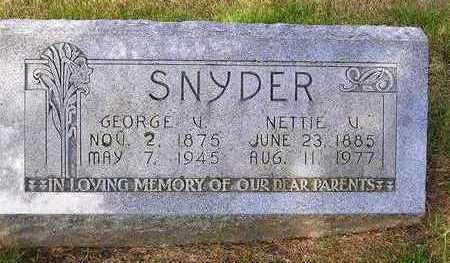 SNYDER, NETTIE V. - Madison County, Iowa | NETTIE V. SNYDER