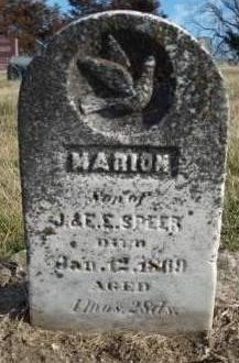 SPEER, MARION - Madison County, Iowa | MARION SPEER