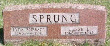 EMERSON SPRUNG, LYDA - Madison County, Iowa | LYDA EMERSON SPRUNG