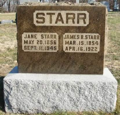 STARR, MARY JANE  (JENNIE) - Madison County, Iowa | MARY JANE  (JENNIE) STARR