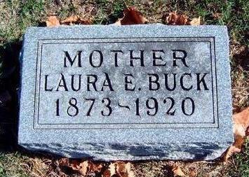 STEGALL BUCK, LAURA ELENORA - Madison County, Iowa   LAURA ELENORA STEGALL BUCK