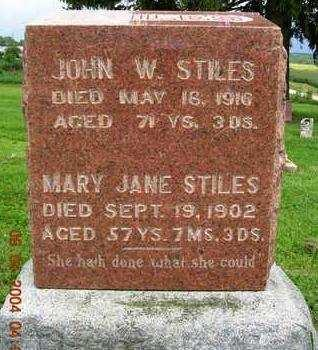 STILES, JOHN WESLEY - Madison County, Iowa | JOHN WESLEY STILES